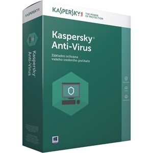 Obrázek Kaspersky Anti-virus 2019, licence pro nového uživatele, počet licencí 3, platnost 1 rok