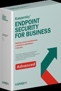 Obrázek Kaspersky Endpoint Security for Business - ADVANCED; licence pro nového uživatele; počet licencí 20; platnost 1 rok